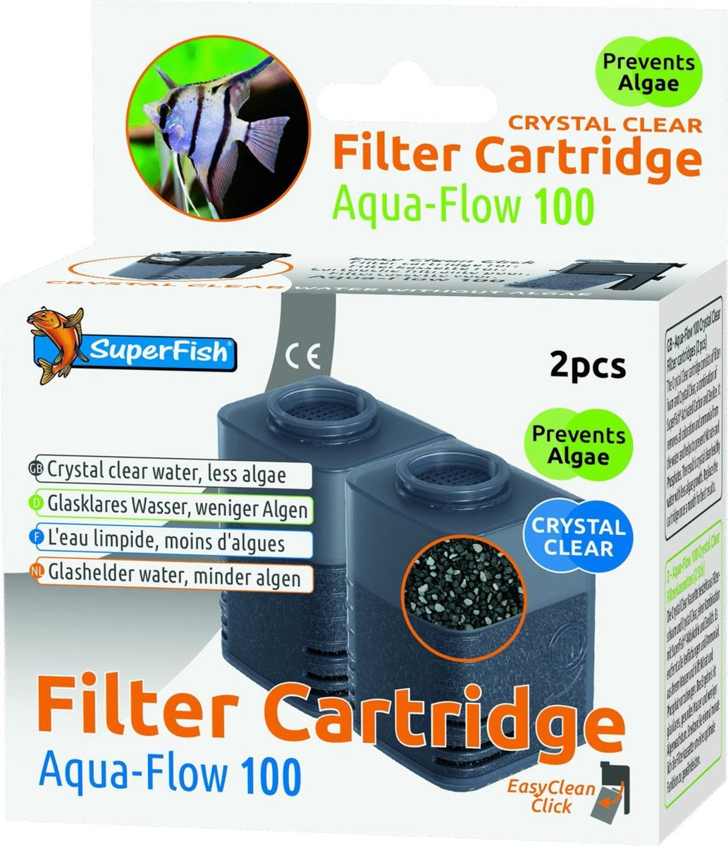 SuperFish Filtercartridge Aqua-Flow 100 met zeoliet voor 4 maanden