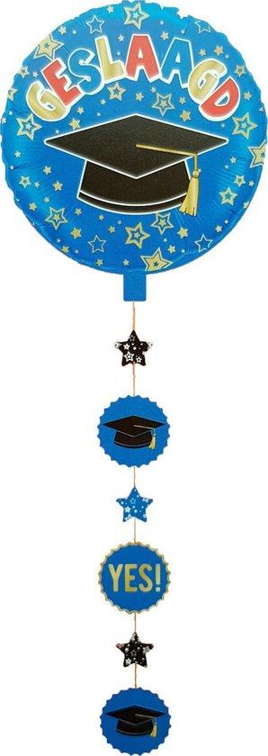Folieballon Geslaagd Onderhanger