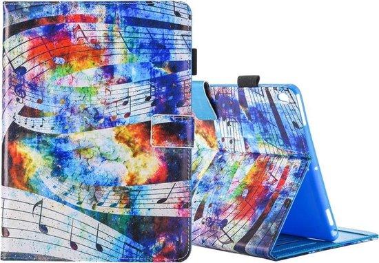 Let op type!! Voor iPad Pro 10.5 inch muzikale notitie afdrukken horizontale Flip PU lederen beschermhoes met houder & Card Slots & fotolijstjes