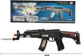 Speelgoed geweer  met schiet geluiden en led verlichting 50CM - Machin Gun toys (inclusief batterijen)