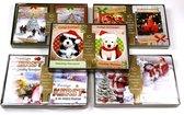 50 stuks: Luxe Kerstkaart en Nieuwjaarskaart met envelop | 15x10.5 | 5 pakjes | Serie Goud - A