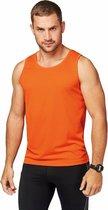 Oranje sport singlet voor heren XL (42/54)