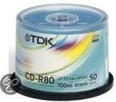 CDR8050SPINCDR 80 DAT 50SP  TDK