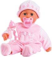 Bayer Babypop Eerste Woordjes - 38 cm - Roze