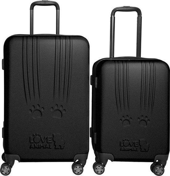 Princess Traveller Toby Black Cat Scratch kofferset 66cm - Zwart