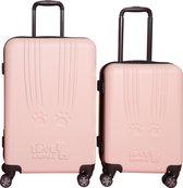 Princess Traveller Toby Black Cat scratch kofferset 66 cm - Roze