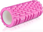 LifeGoods Grid Foam Roller - Soft - 33cm - Roze