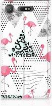 Sony Xperia XZ1 Standcase Hoesje Flamingo Triangle