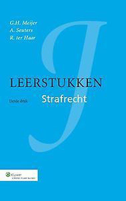 Boek cover Leerstukken strafrecht van G.H. Meijer (Hardcover)