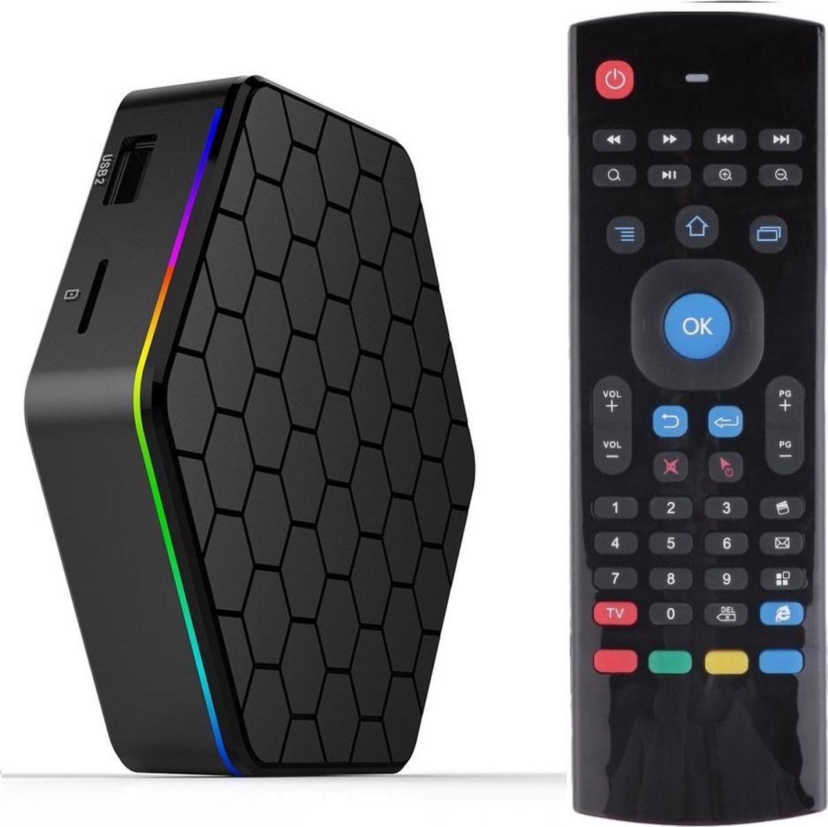 3GB/32GB 2017 T95Z plus Android TV Box Inclusief DRAADLOZE MX3 AIR MOUSE