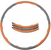 Weight hoop Original - Fitness Hoelahoep - 1.5 kg - Oranje/Grijs