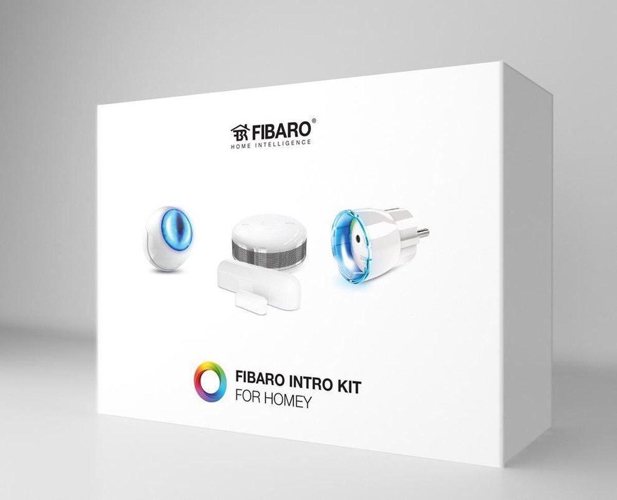 FIBARO Intro Kit for Homey (NL versie) - 3 sensoren - 1 slimme stekker (Type F) - Z-Wave
