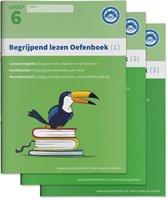 Begrijpend Lezen Oefenboeken Compleet 1, 2 en 3 - Groep 6 Begrijpen lezen opgaven- en antwoordenboek,Verschillende type teksten en bijbehorende doelen.