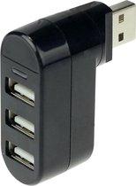 Draaibare 3 Poorts USB Hub / Switch / Splitter / V