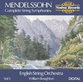 Mendelssohn: Complete String Symphonies Vol.3