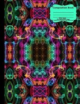 Abstract Curly Cues Composition Notebook, Wide Ruled, 100 Sheets/200 Pages, 8.5