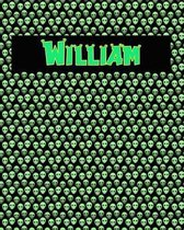 120 Page Handwriting Practice Book with Green Alien Cover William