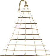 Natuurlijke handgemaakte deco hanger, adventskalender, raamdecoratie in de vorm van een kerstboom, gemaakt van wilg met jute koord, Maat 100x140cm (zonder verlichting)