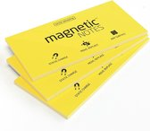 Magnetic Notes, set van 3 notitieblokjes maat L (200x100mm)x100 sheets Geel