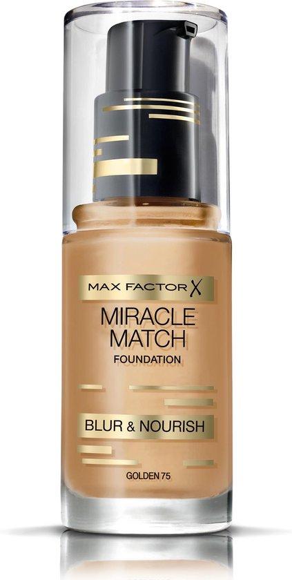 Max Factor Miracle Match Blur & Nour Foundation - 75 Golden