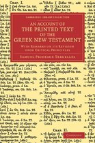 Boek cover An Account of the Printed Text of the Greek New Testament van Samuel Prideaux Tregelles