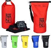 relaxdays Ocean Pack 20 liter - waterdichte tas - strandtas - zeilen - outdoor plunjezak rood