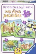 Ravensburger Schattige huisdieren- My First puzzels -2+4+6+8 stukjes - kinderpuzzel