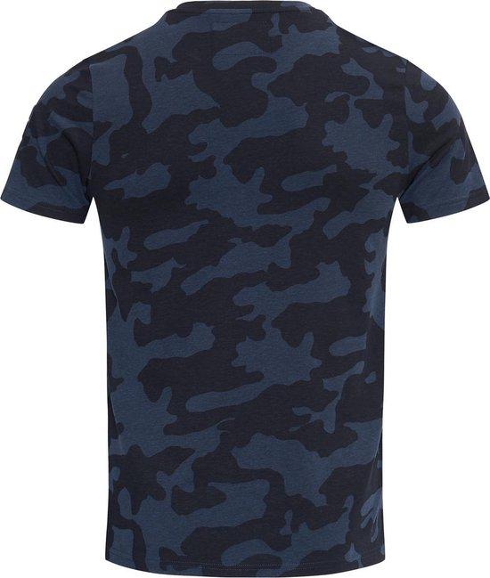 Blue Black Amsterdam Heren T-shirt Tony - Blauwe Camouflage - Maat M