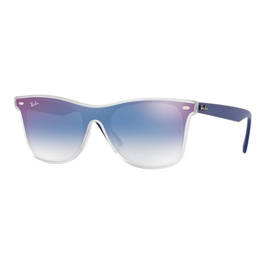 Ray-Ban Clear Gradient Blue Mirror Red Zonnebril RB4440N 6356X0 - Wit