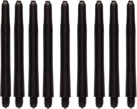 Dragon Darts zwarte darts shafts - 5 sets (15 stuks) - medium - darts shafts