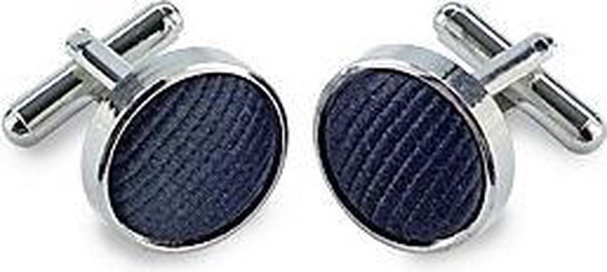 Manchetknopen Donkerblauw / Marineblauw - Riem & Zo