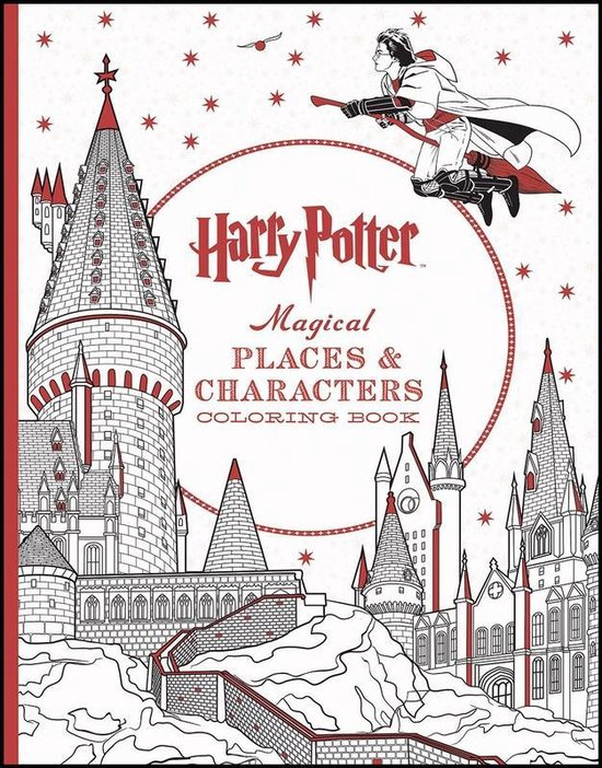 Boek cover Harry Potter Magical Places and Characters Colouring Book van Brothers, Warner (Paperback)