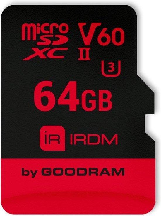 Goodram IRDM MicroCard flashgeheugen 64 GB SDXC Klasse 10 UHS-II