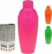 Cocktailshaker - 350 ml - Fluoriserend roze
