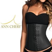 Ann Chery Waist Trainer - 100 % Natuur Latex - Premium Label Made in Colombia - Zwart - Maat 3XL (kledingmaat 44NL/46B)