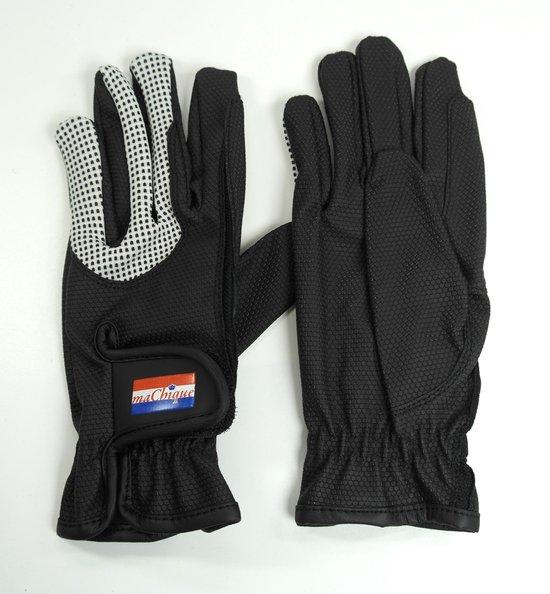 MaChique handschoenen met kunstlederen binnen en bovenzijde met wit katoenen accenten maat S HT5127