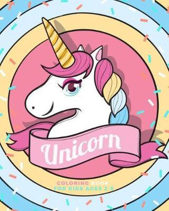 Unicorn coloring book for kids age 2-5