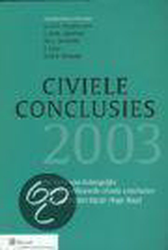 Civiele Conclusies 2003 - none |