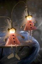 Konstsmide - Lichtsnoer 10 roze engeltjes 230V 20L - warmwit