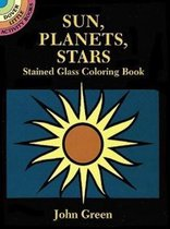 Sun, Planets, Stars Stained Glass Coloring Book
