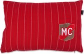 In The Mood Mc Embleem - Sierkussen - 40x60 cm - Rood
