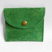 Lauren Sterk Amsterdam - portemonnee - pasjeshouder-  dames - groen glitter
