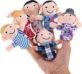 Vingerpoppetjes familie 6 stuks
