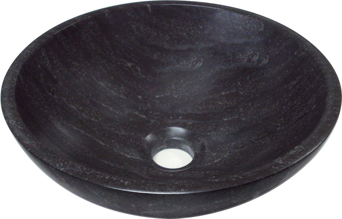 Plieger Stone Waskom - Ø 30 x 12 cm - Natuursteen - Antraciet