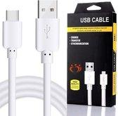 OLESiT UNS K105 Type C Kabel Premium USB-C Cable Oplaadsnoer 1 Meter  - 1 Jaar Garantie op breuk en werking - Geschikt voor o.a Samsung Galaxy S9 (Plus),S10 / 20 (Plus), A5 - 2017, A7 2017 , A3 2017, A8  - Wit