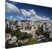 Het Zuid-Amerikaanse Belo Horizonte in Brazilië Canvas 120x80 cm - Foto print op Canvas schilderij (Wanddecoratie woonkamer / slaapkamer)
