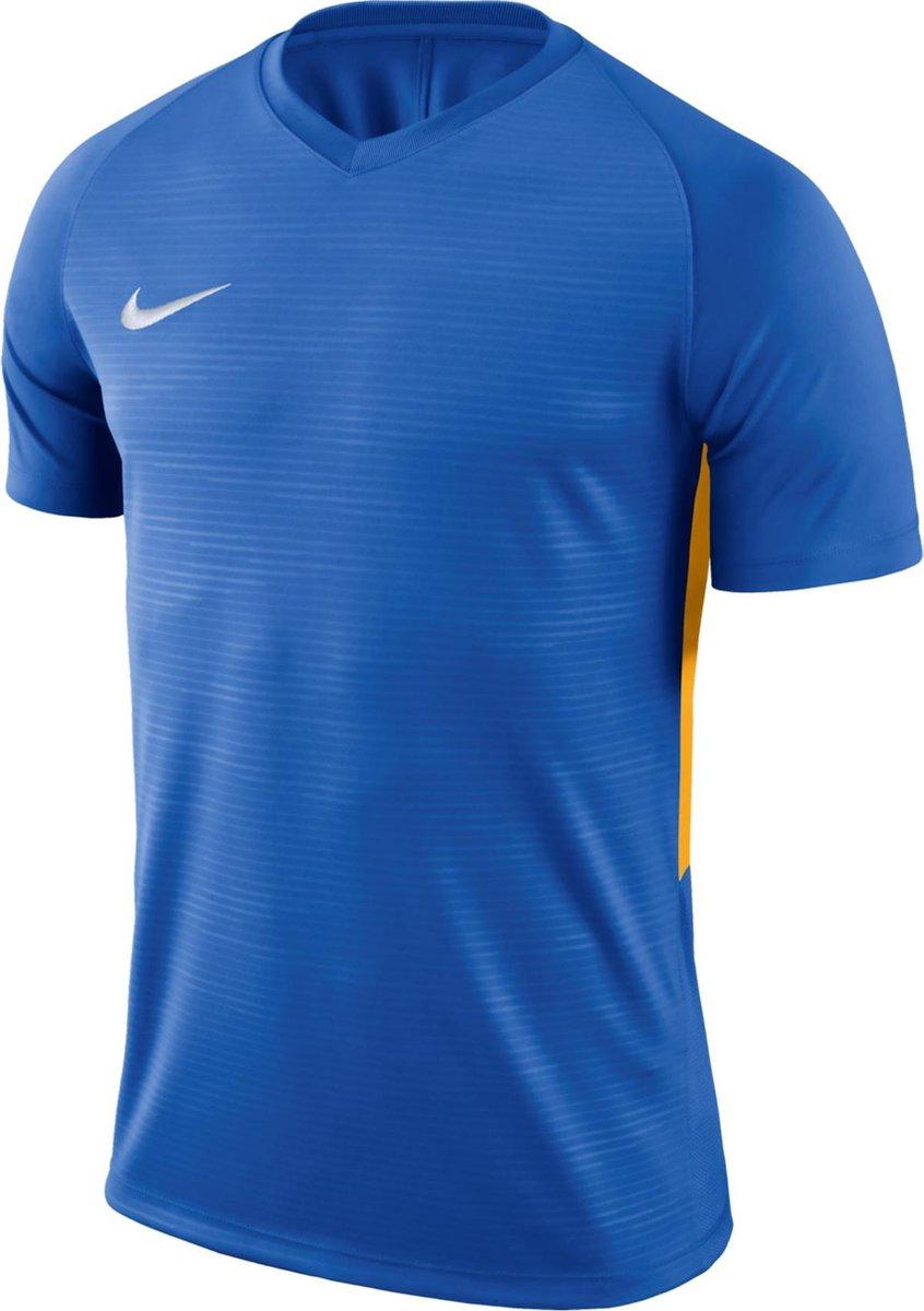 Nike Tiempo Premier SS Jersey  Sportshirt - Maat L  - Mannen - blauw/geel