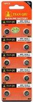 Strip 10 Stuks AG5 Batterijen |ook bekend als LR750, SR754W, LR48 | Voordeelkabels