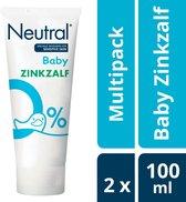 Neutral 0% Baby Zinkzalf - 2 x 100 ml - Voordeelverpakking