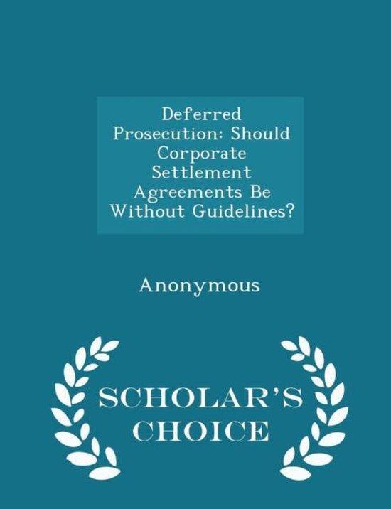 Deferred Prosecution